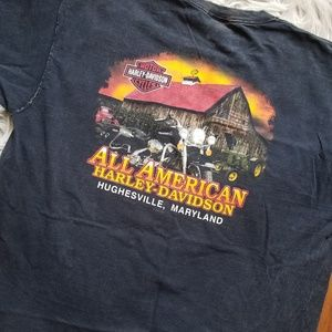 Harley-Davidson Distressed Tee All American MD